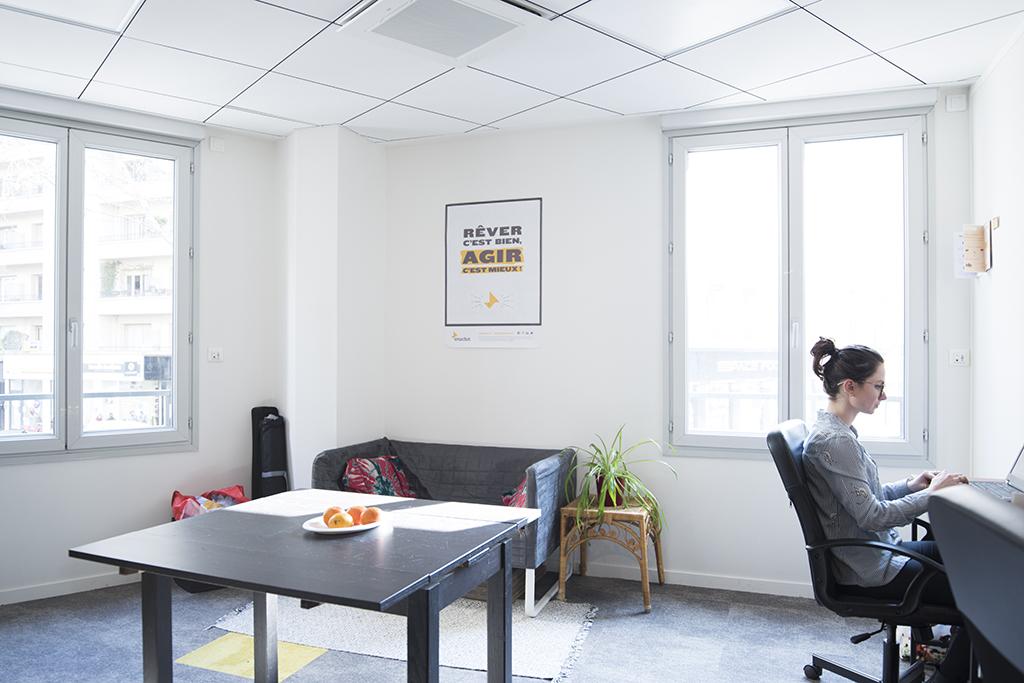 bureau ferme colocation d'entreprises Focus Lyon 3 Hub-Grade